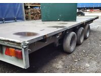 3 x AXLE FLAT BED IFOR WILLIAMS TRAILER / TRI AXLE