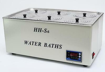 1500w Digital Thermostatic Water Bath 6 Hole 500300150mm Hh-s6 Fast Shipping T