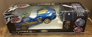 EXTREMELY-RARE-2000-Tyco-RC-Remote-Control-Dodge-Viper-GTS-Metallic-Blue