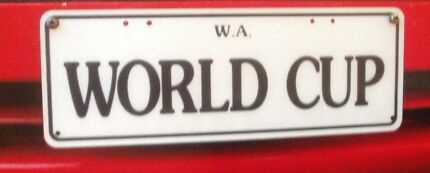 WORLD CUP   LICENCE PLATES for Sale