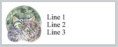 Personalized Address Labels Cats with Eye Glasses Buy 3 get 1 free (bx (Buy Cat Eye Glasses)
