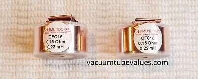 Pair Two Mundorf Coil Inductor Cfc16 0.22 Mh Pure Copper Foil