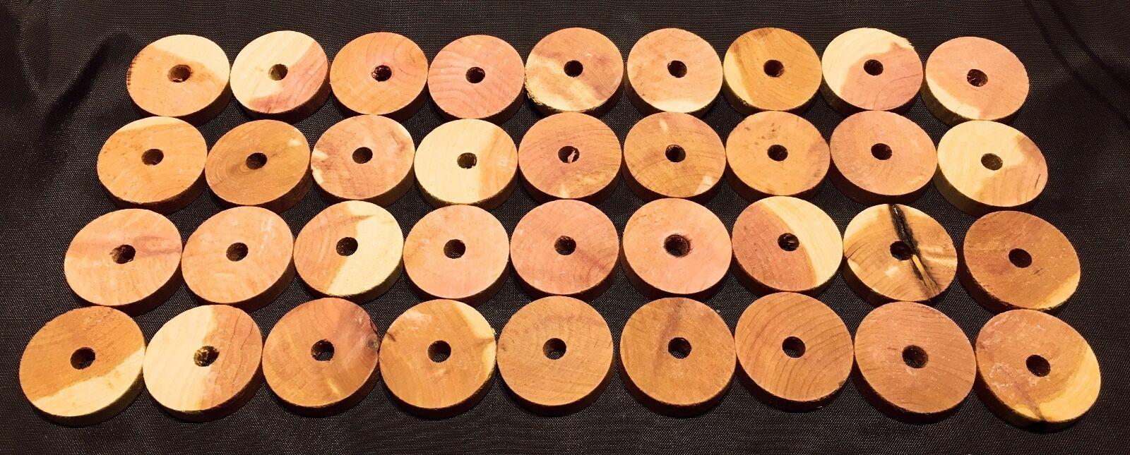 36 Stück Zedernholz-Ringe Mottenschutz Mottenringe Mottenkugeln 36 Stück OVP neu