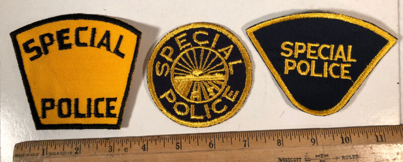 Lot Of 3 Vintage Special Police Patch Ohio Sew On