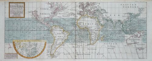A CORRECT SEA CHART OF THE WHOLE WORLD...DIRECTION OF CAPT. EDMUND HALLEY, 1748.