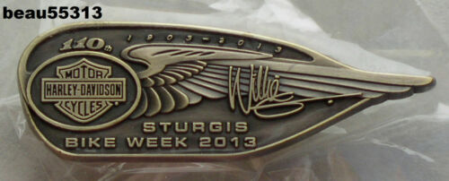 HARLEY DAVIDSON HOG RALLY STURGIS WILLIE G 2013 110th ANNIVERSARY VEST MDA PIN