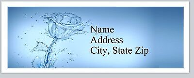 Personalized Address Labels Blue Transparent Rose Buy 3 Get 1 Free P 442