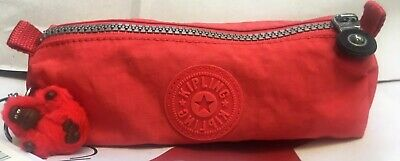 NWT KIPLING FREEDOM COSMETIC CASE/PEN CASE W Small Furry Monkey 623 cayenne