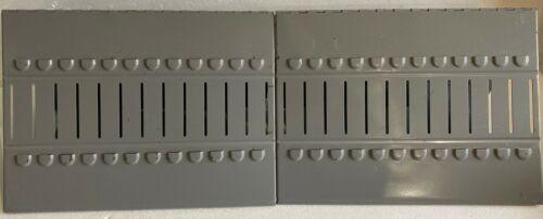 Master VERTIFLEX Catalog Rack -Desk or Countertop 2 sections 24 ring slots- Gray