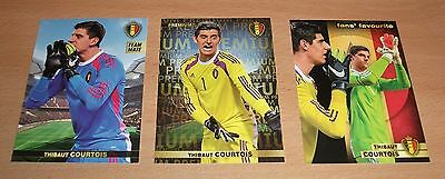 PANINI CARREFOUR LOT 7 37 118/180 - BELGIAN RED DEVILS TOUS ENSEMBLE - COURTOIS
