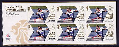 Usado, LONDON 2012 OLYMPIC GOLD MEDAL WINNERS ED McKEEVER KAYAK SINGLE K1 SHEETLET MNH segunda mano  Embacar hacia Spain