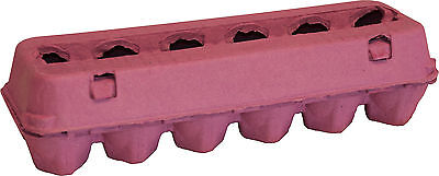 125 New Paper Pulp Poultry Egg Cartons 12 Egg Capacity Pink Color