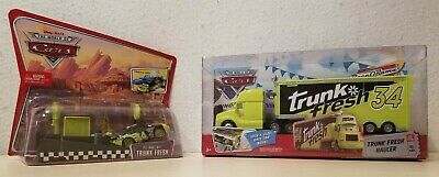 Disney Pixar Cars Trunk Fresh Hauler #9 & Pit Race-Off car & launcher - new