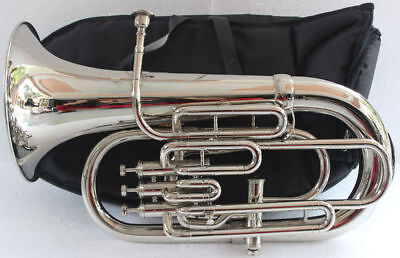 BEST CHOICE OF GIFT EUPHONIUM Bb PITCH NICKEL SILVER WITH FREE BAG &
