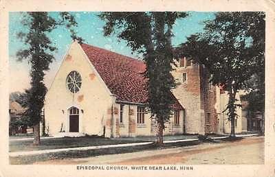 For sale White Bear Lake Minnesota Episcopal Church Street View Antique Postcard K26782