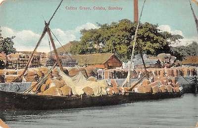 Bombay Harbor (Colaba Bombay Cotton Green Harbor Scene Antique Postcard J46881)