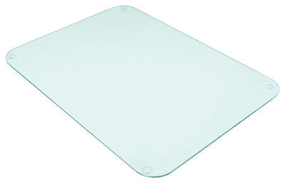 Tuftop Clear Worktop Saver Protect Chopping Board Trivet 50x40cm Textured Glass