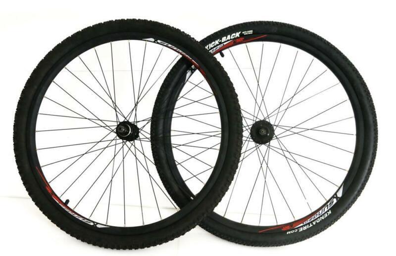"26"" Sundeal MTB Disc Bike Wheelset + Tires Freewheel Compatible + Tires NTO New"