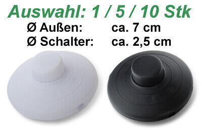 Fußschalter rund schwarz weiß weiss 2A 250V Stehlampe Schalter Tretschalter