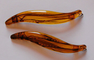 VINTAGE TORTOISE PLASTIC BARRETTES HAIR ACCESSORIES 3 inches • 1970's DEADSTOCK (1970 Jewelry Accessories)