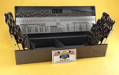 Drill Hog® 115 Pc Drill Bit Set Letter Number HI-Molybdenum M7 Lifetime Warranty - Set Number