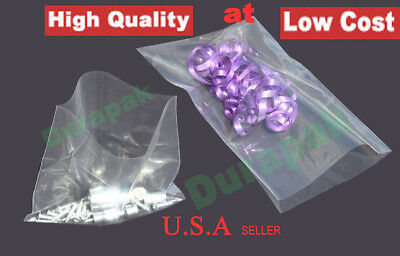"""OPEN TOP END PLASTIC BAGGIES 1000 CLEAR POLY LAY FLAT BAGS 4/"""" x 12/"""" 4 Mil"""