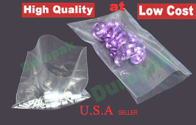 1000 12x18 1.5 Mil Clear Flat Open Top Poly Plastic Bag Industrial Retail Bags