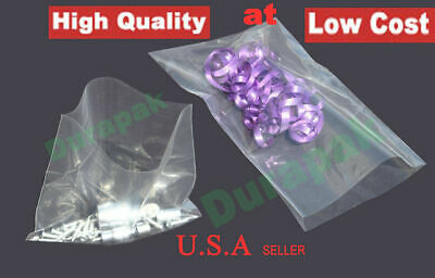 1000-5000 pcs Clear Flat Open Top Poly Bag 4 Mil LDPE Food Safe Various Sizes