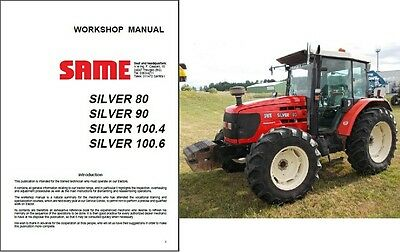 Same Silver 80 90 100.4 100.6 Tractor Service Repair Workshop Manual Cd