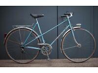Beautiful Vintage French Peugeot Record du Monde Mixte Frame Mens/Ladies Town Bike NEW Tyres - 56cm