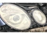 W211 e class 2004 original fully working halogen pair of headlights both left and right