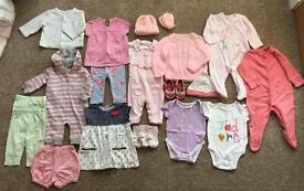 Girls 3-6 months clothing bundle