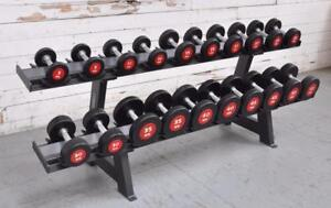 NEW eSPORT (es) COMMERCIAL URETHANE DUMBBELL SET 5lb-50lb $1375.00