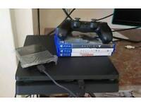 PS4 500GB(BOXED)+1TB EXTERNAL STORAGE+3 GAMES