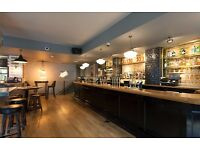 Experienced bar/waiting staff required for full and part-time positions in Holborn Monday-Friday