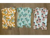 3 Next 9-12 months baby rompers ( LIKE NEW )