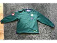 Cubs uniform - Jumper and Shirt 8-9yrs