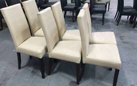 Modern Faux Leather Dinning table Chairs