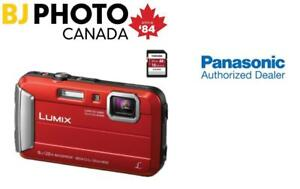 Lumix DMC-TS30 Digital Camera (Red) + 16GB MEMORY CARD (ON SALE)