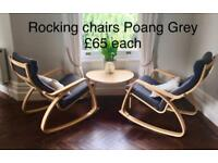 Rocking chairs Poang in Grey
