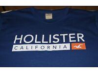Hollister T-Shirt, Size Gents Large. Blue