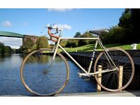 Retro Mens BSA Tour Of Britain Road Racing Bike 57cm Steel Frame Vintage Single Speed Student Town