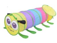 Colourful caterpillar pop up crawl tunnel/ play tent .