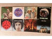 8 x vinyl records (Queen, ABBA, Bee Gees, The Rolling Stones, etc.)