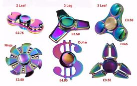Fidget Spinners Rainbow Metal Wholesale Joblots Collection Only