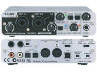  Edirol UA-25EX Audio Interface Soundcard 24 bit 96Khz USB MIDI Compressor Limiter Digital S/PDIF