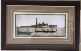 Two gondolas in the Venice lagoon by Fratelli Alinari
