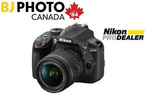 Nikon D3400 Kit with AF-P 18-55 VR  **** Price Effective Starting December 24th **** - Boxing Week Flyer Promo