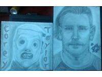 Corey Taylor (Slipknot/Stone Sour) Masked/Unmasked drawings. 2 FOR £50 SPECIAL OFFER