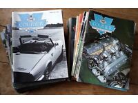 Collection of Triumph Courier magazines.